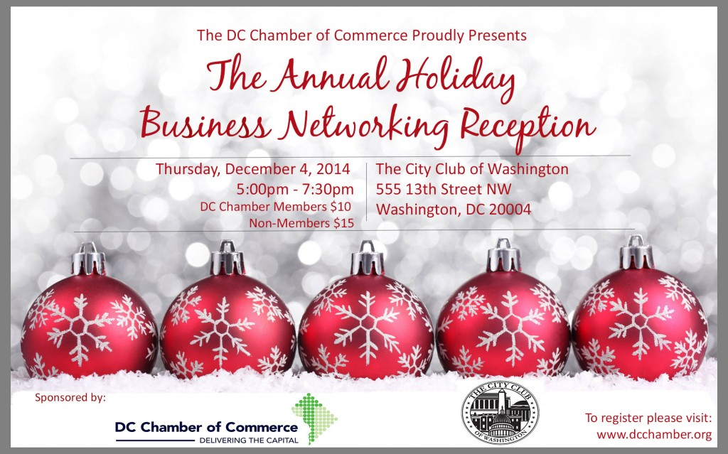 Annual Holiday Business Networking Reception @ The City Club of Washington | Washington | District of Columbia | United States