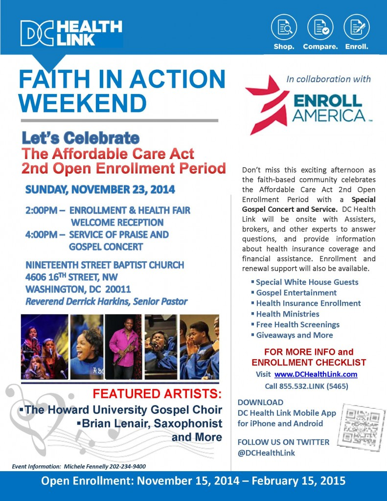DC HEALTHLINK: Faith In Action Weekend @ NINETEENTH STREET BAPTIST CHURCH | Washington | District of Columbia | United States