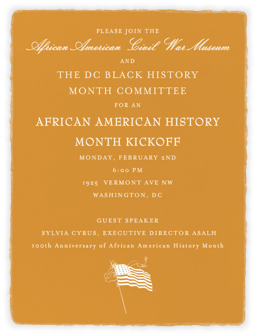 African-American History Month Kick-Off! @ Washington | District of Columbia | United States
