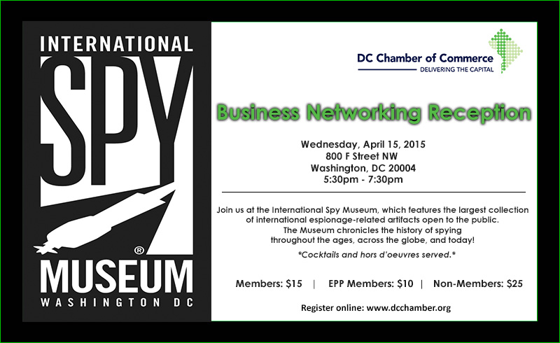 Business Networking Reception @ International Spy Museum | Washington | District of Columbia | United States