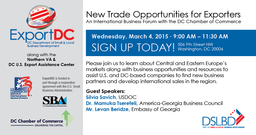 New Trade Opportunities for Exporters @ DC Chamber of Commerce | Washington | District of Columbia | United States