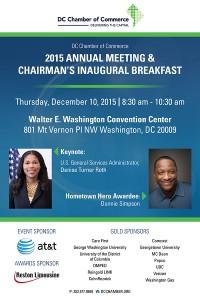 2015 Annual Meeting & Chairman's Inaugural Breakfast @ Walter E. Washington Convention Center   Washington   District of Columbia   United States