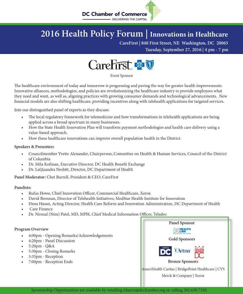 Health Policy Forum @ CareFirst | Washington | District of Columbia | United States