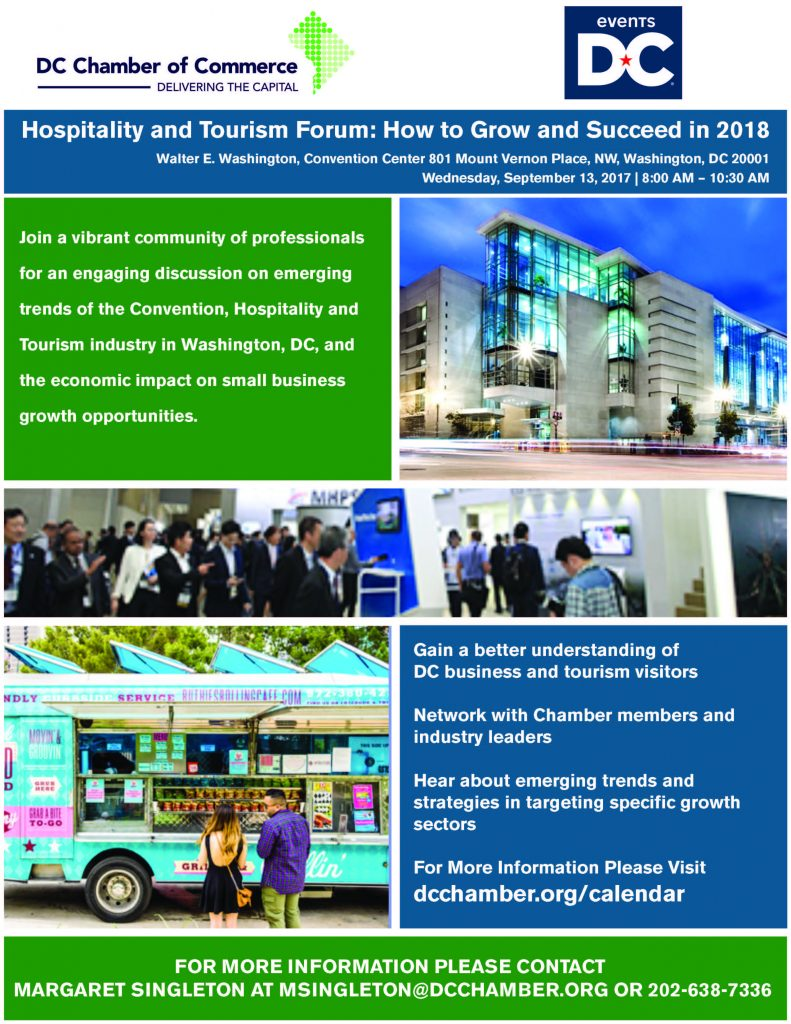 Hospitality and Tourism Forum: How to Grow and Succeed in 2018 @ Walter E.Washington, Convention Center | Washington | District of Columbia | United States