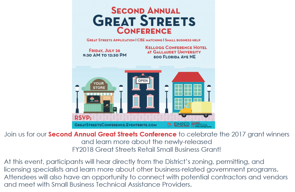 DMPED's 2nd Annual Great Streets Conference @ Kellogg Conference Hotel at Gallaudet University | Washington | District of Columbia | United States