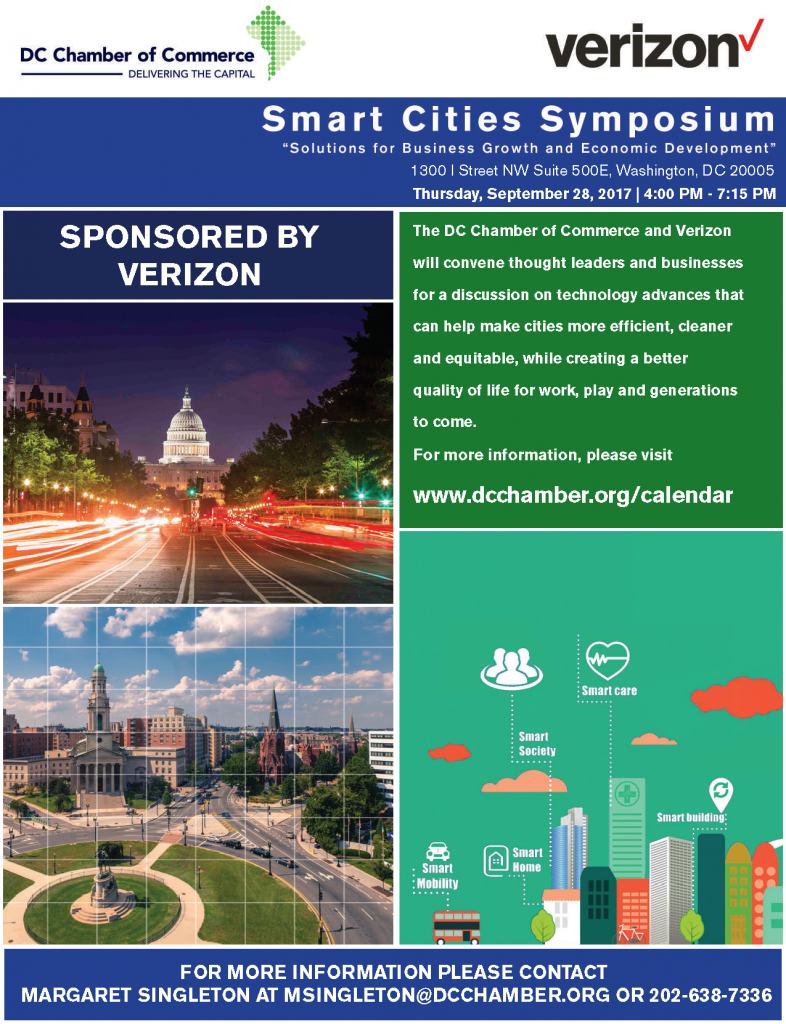 "Smart Cities Symposium ""Solutions for Business Growth and Economic Development"" @ Washington 