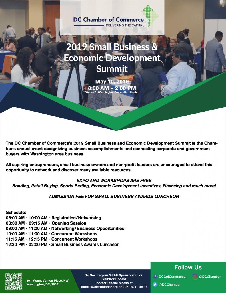 2019 Small Business & Economic Development Summit | DC Chamber of